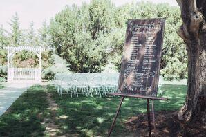 Calligraphed Chalkboard Wedding Program Sign