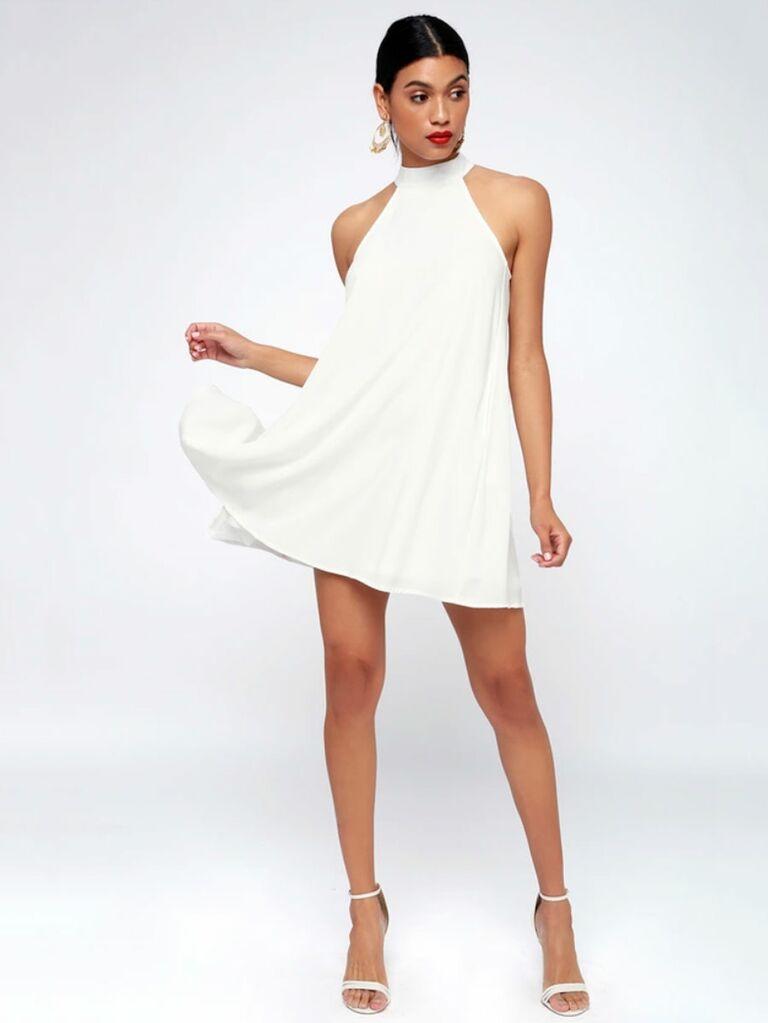 c3205c75717 White swing dress for bridal shower - bridal shower dresses for bride