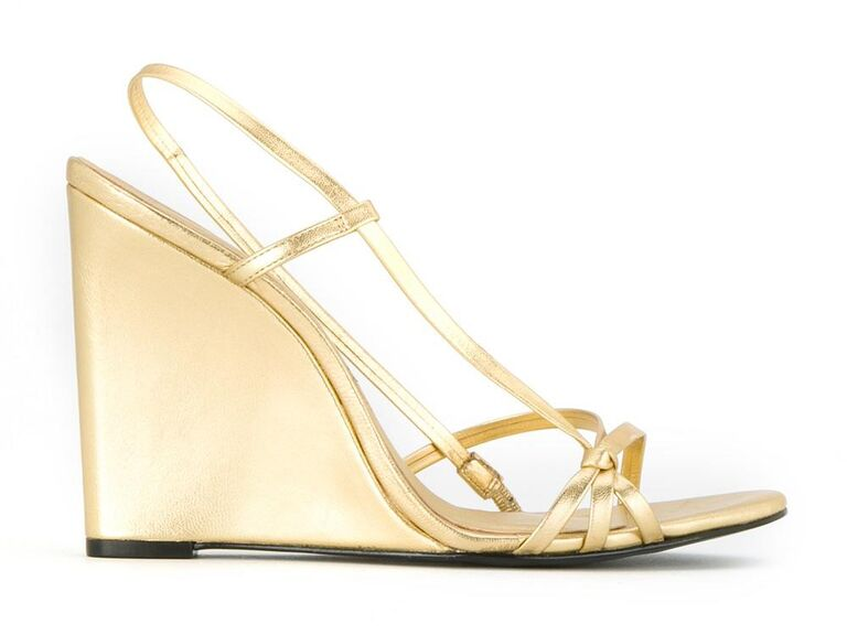 8968bf1ef55b Reinaldo Lourenço gold wedding wedge sandals
