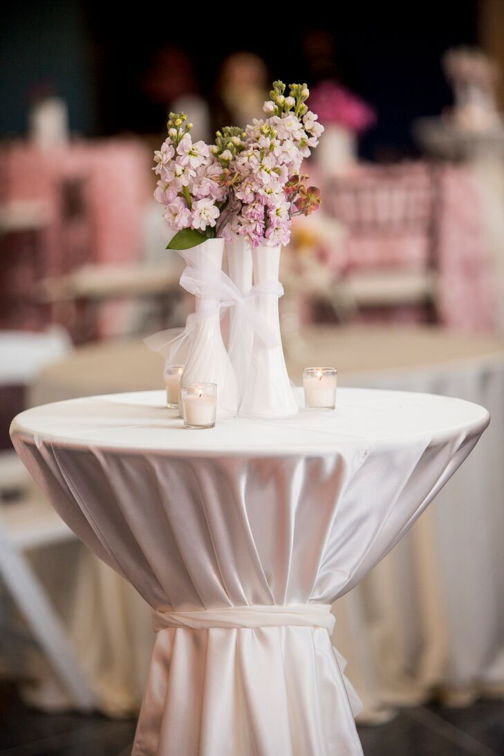 Pink and Ivory Centerpiece