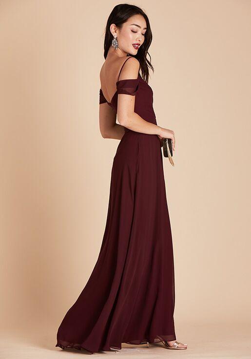 Birdy Grey Spence Convertible Dress in Cabernet V-Neck Bridesmaid Dress