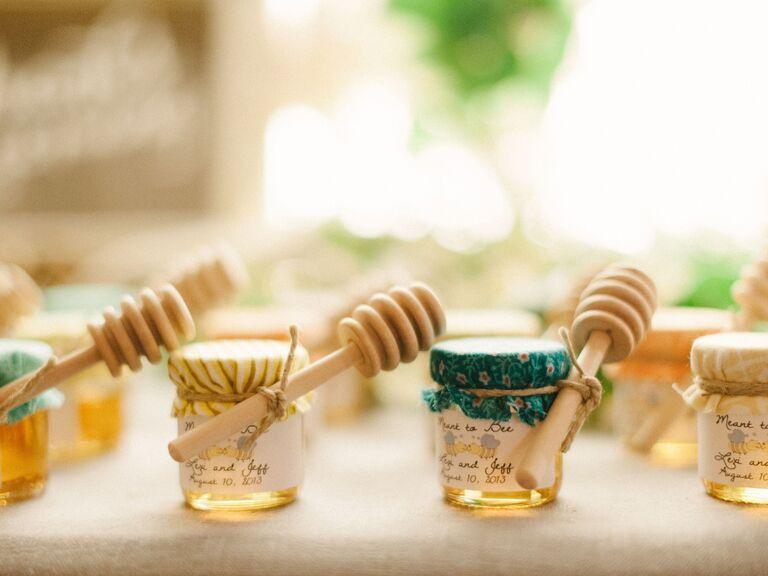 rustic honey wedding favors