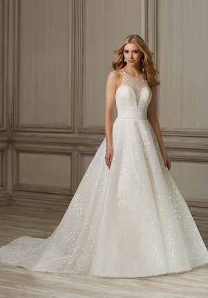 50faa12970d3 Illusion Neckline Wedding Dresses | The Knot