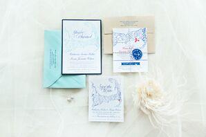 Custom-Designed Cape Cod Wedding Invitations