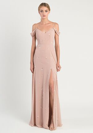 Jenny Yoo Collection (Maids) Priya Ditsy Print Off the Shoulder Bridesmaid Dress