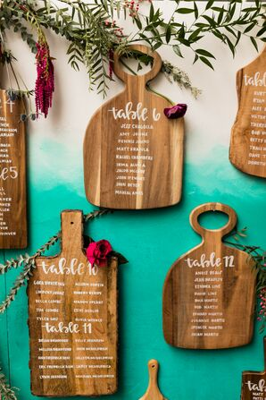 Cheese Board Seating Chart for Wedding in Toledo, Ohio