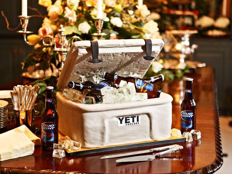 Beer cooler groom's cake