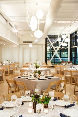 Simple Reception at the Greenhouse Loft in Chicago
