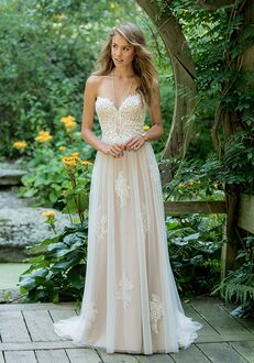 Lillian West 66008 A-Line Wedding Dress