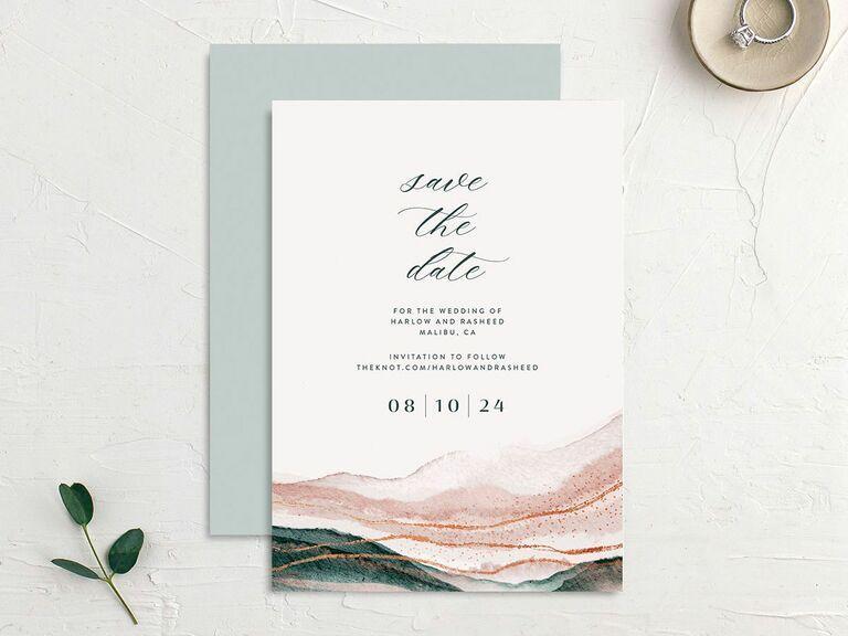 waves destination wedding save the date
