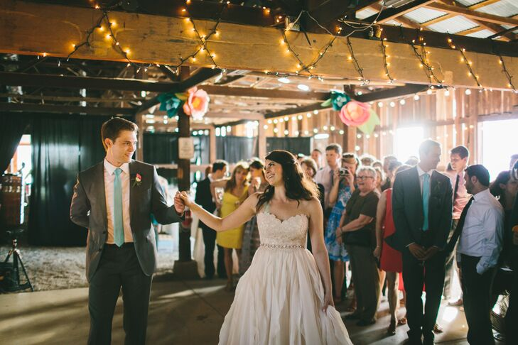 """Since Jess and Dan met through an a cappella singing group, they wanted to pay homage to the activity that brought them together. They decided to make their own version of Ed Sheeran's """"Tenerife Sea"""" and waltz to their version of the tune."""