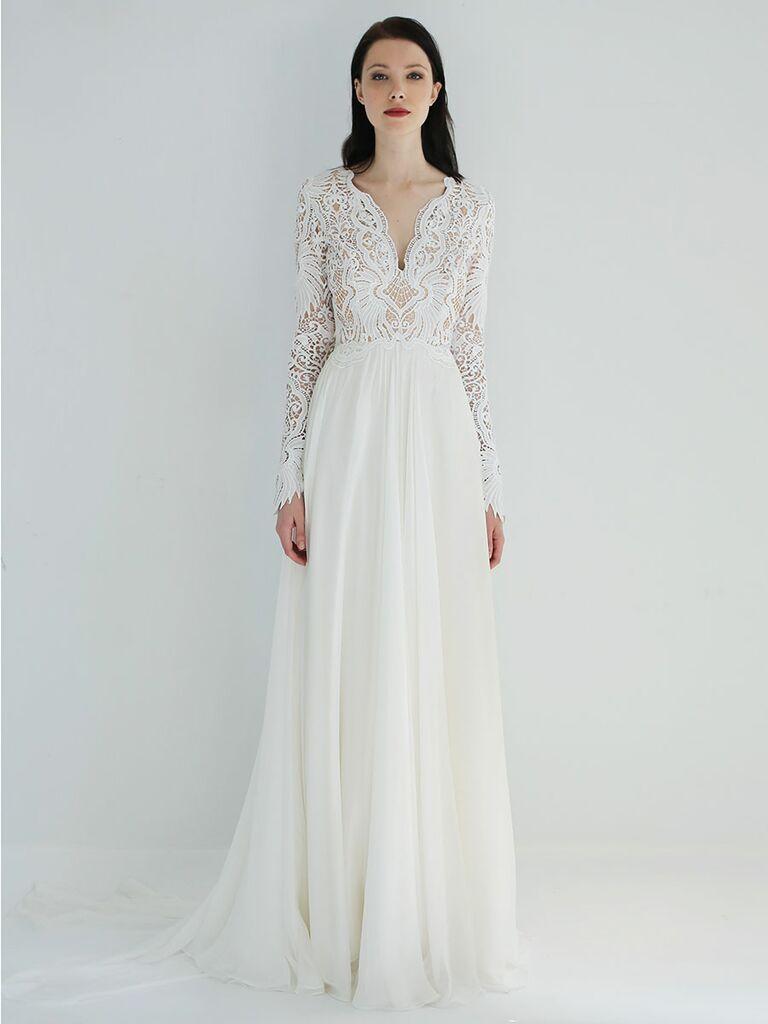 Fall Long Sleeve Wedding Dresses 2018