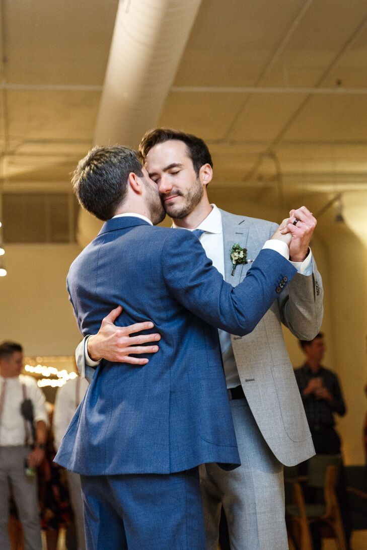 Same-Sex Couple During First Dance at  the Greenhouse Loft in Chicago