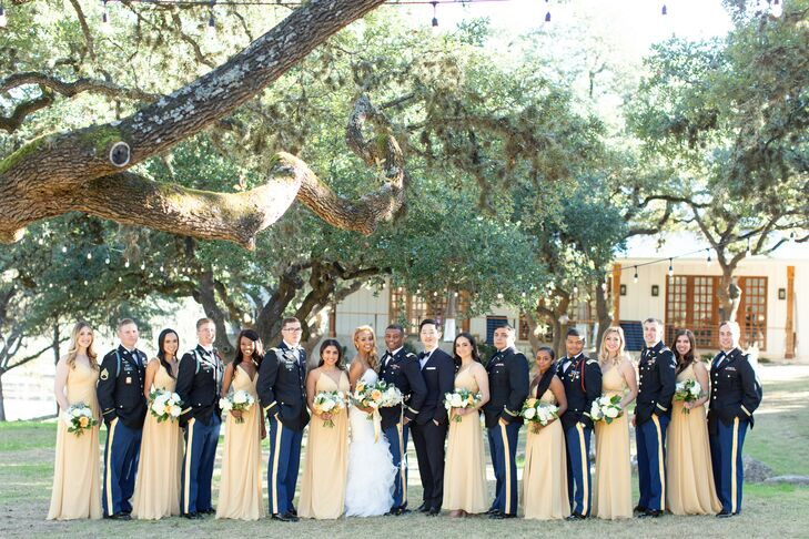 Wedding Party at The Ivory Oak in Wimberley, Texas