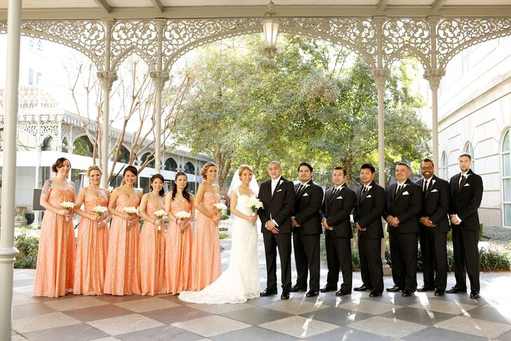 Classic Romantic Formal Wedding Party