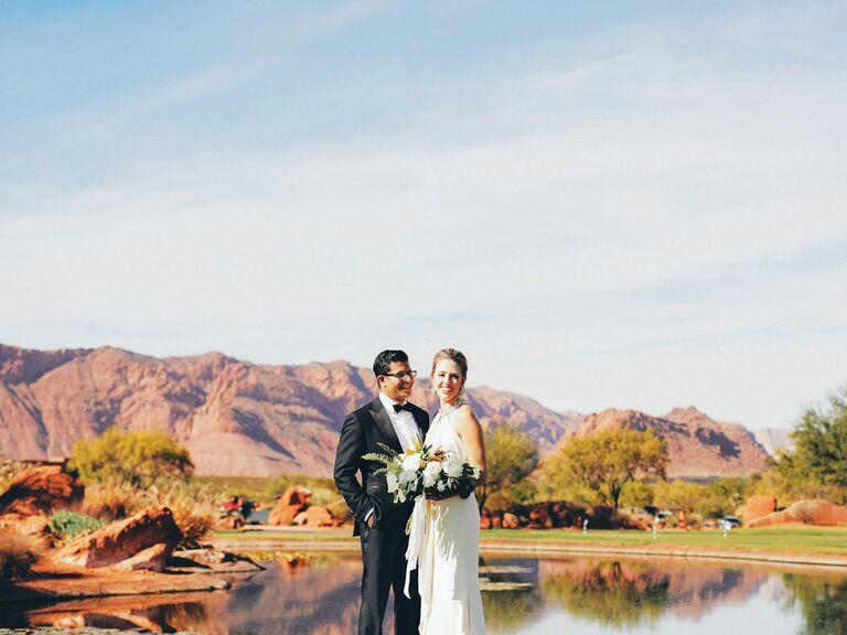 Utah desert wedding