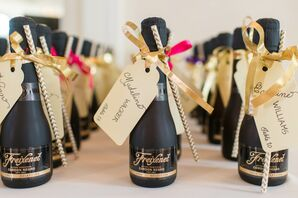 Freixenet Wine and Paper Straw Escort Cards