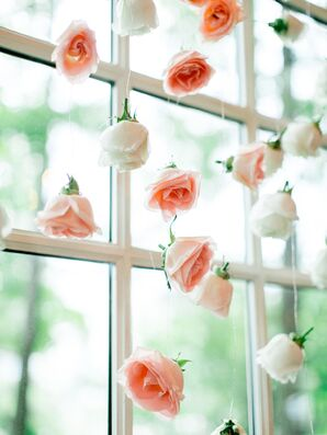 Suspended Pink Rose Backdrop