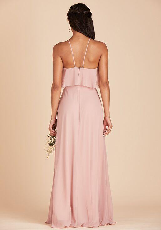 Birdy Grey Jules Chiffon Dress in Rose Quartz Halter Bridesmaid Dress