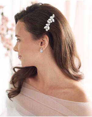 Dareth Colburn Nora Petite Opal & Crystal Comb (TC-2436) Silver Pins, Combs + Clip