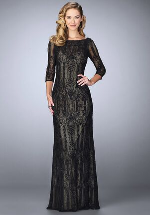 La Femme Evening 24855 Black Mother Of The Bride Dress