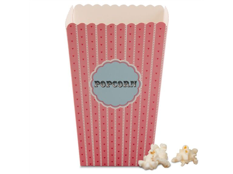 Novelty popcorn boxes for bridal shower gift