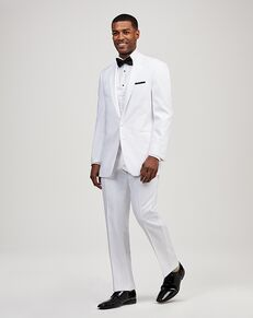Jos. A. Bank Joseph & Feiss White 2 Button Notch Lapel Tuxedo White Tuxedo