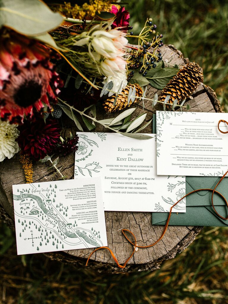Wedding invitation trends love story