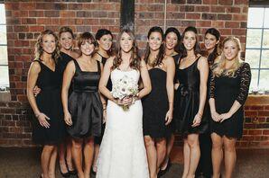 Mixed Black Bridesmaid Dresses