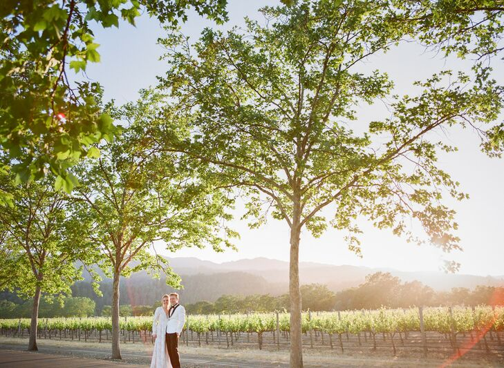 Sunset Portraits at Beaulieu Garden in Napa Valley, California