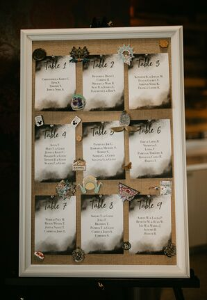 Table Assignments for Urban Detroit Wedding