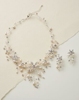 Dareth Colburn Romance Freshwater Pearl Jewelry Set (JS-1625) Wedding Necklace photo