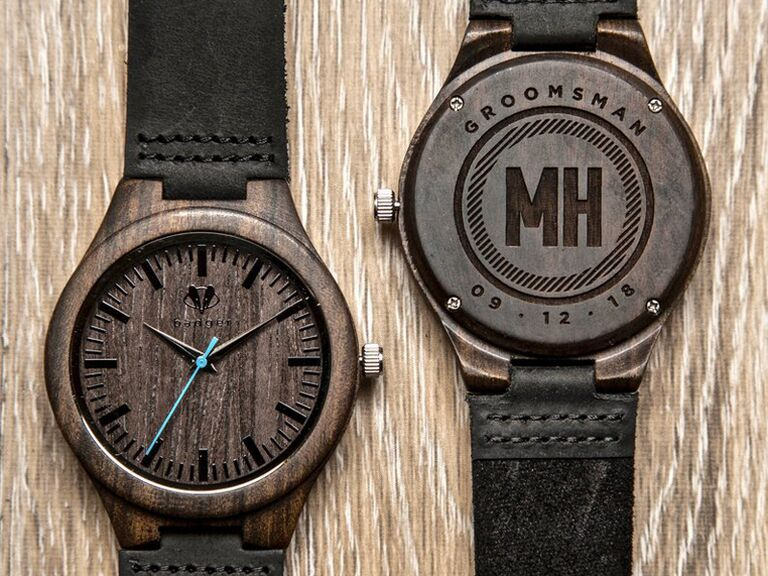 Custom wooden watch for best man