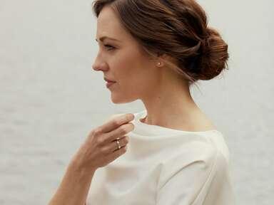 little white dress by amsale wedding dress