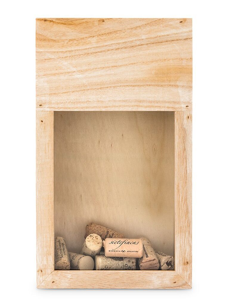 Wine cork shadow box unique engagement gift
