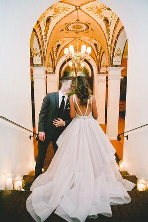 Romantic Hayley Paige Dori Wedding Dress with Lavender Skirt