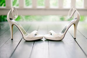 Classic White Michael Antonio Wedding Shoes