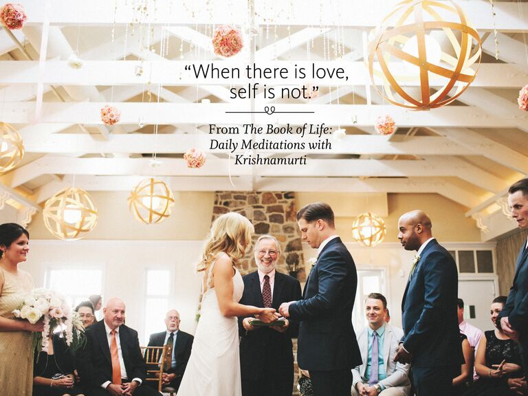 The Book Of Life Daily Meditations With Krishnamurti Wedding Ceremony Reading