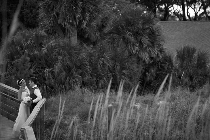 Newlywed Photo Shoot Among the Palms of Hilton Head Island