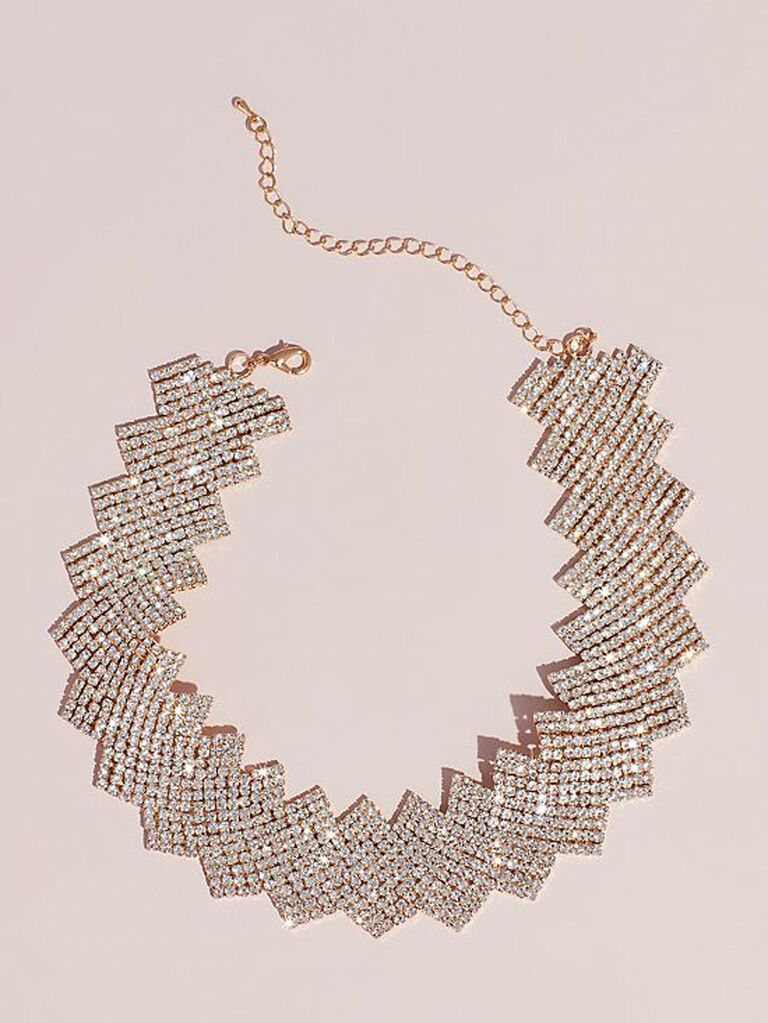 Big crystal statement bridal necklace