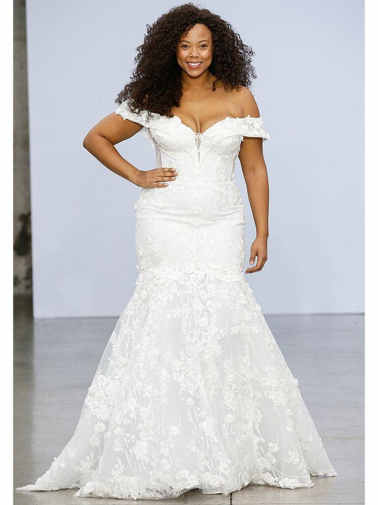 Pnina Tornai Fit-and-Flare Wedding Dress