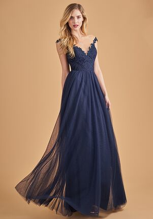 Belsoie Bridesmaids by Jasmine L204065 Illusion Bridesmaid Dress