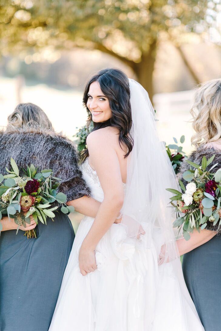 """""""My veil was borrowed from one of my best friends, which I loved,"""" Lydia says. """"I loved my overall look because I still felt and looked like myself. I felt elegant."""""""