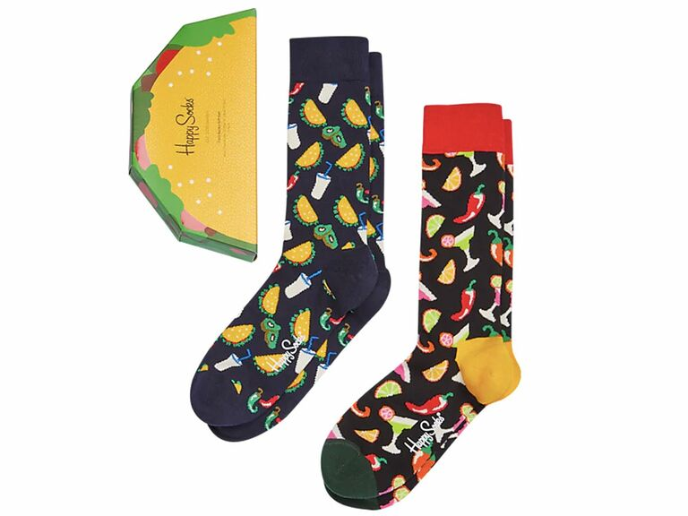 Tacos and tequila printed socks