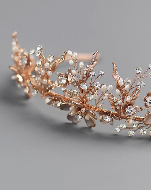 Dareth Colburn Ava Bridal Tiara (TI-7049) Gold Tiara