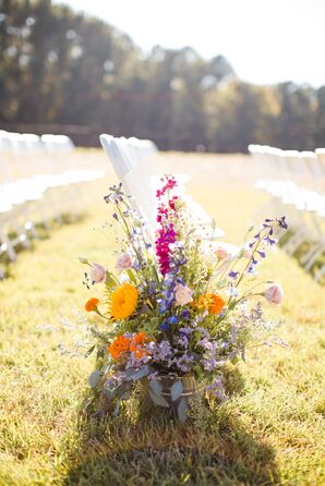 Wildflower Aisle Arrangements
