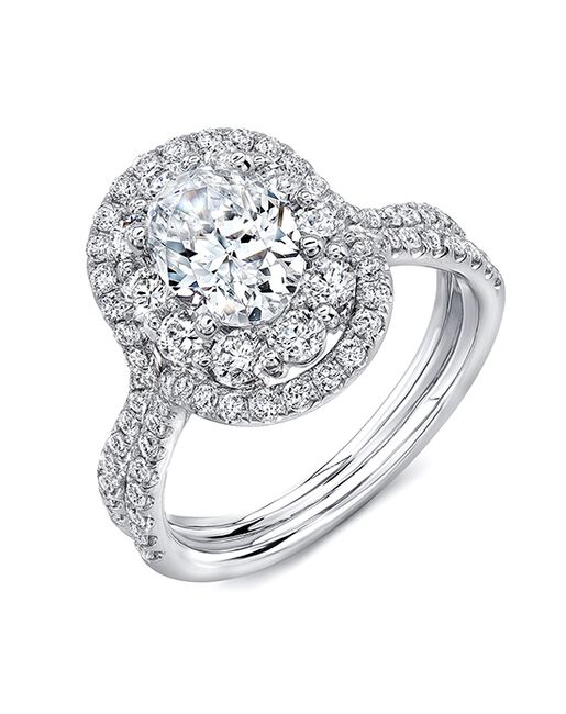 Uneek Fine Jewelry Unique Oval Cut Engagement Ring