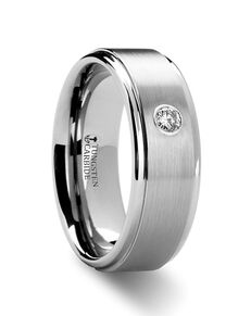 Mens Tungsten Wedding Bands W8128-RSDB Tungsten Wedding Ring