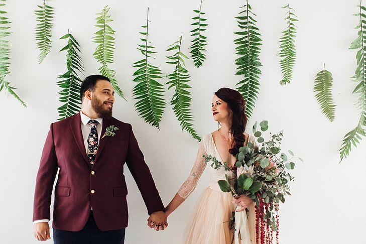 An urban museum rooftop set the scene for Robynn Sorenson (27 and a baker) and James Jackson's (27 and works in sales) ultra-personalized celebration.
