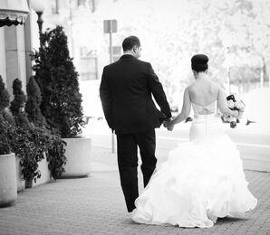 Chapel-Length Ruffled Wedding Dress Train